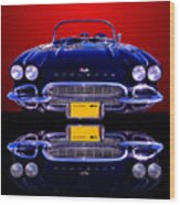 1961 Chevy Corvette Wood Print