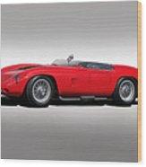 1961 Ferrari Tr61 Corsa Rosso Wood Print