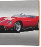 1961 Ferrari Tr61 Rossa Corso Wood Print
