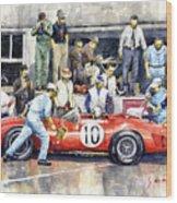 1961 Le Mans 1961 Ferrari 250 Tri Olivier Gendebien Phil Hill Winner  Wood Print