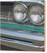 1961 Pontiac Catalina Grille With Headlights And Logo Wood Print