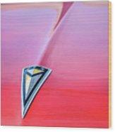 1961 Pontiac Catalina Hood Emblem Wood Print