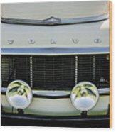 1961 Volvo Pv544 Grille Emblem -1511c Wood Print