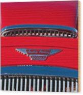 1962 Austin Healey 3000 Mk II Hood Emblem -0324c Wood Print