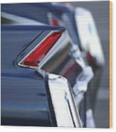 1962 Cadillac Deville Taillights Wood Print