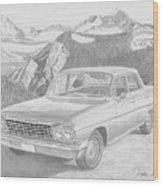1962 Chevrolet Impala 4 Door Classic Car Art Print Wood Print