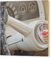 1962 Chevy Stering Wheel Wood Print