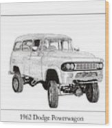 1962 Dodge Powerwagon Wood Print