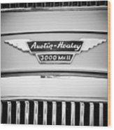 1963 Austin-healey 3000 Mk II Black And White Wood Print