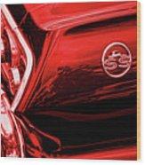 1963 Chevrolet Impala Ss Red Wood Print