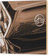 1963 Chevy Impala Ss Sepia Wood Print
