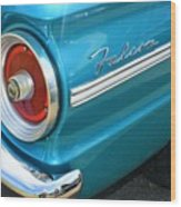 1963 Ford Falcon Tail Light And Logo Wood Print