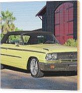 1963 Ford Galaxie 500 Xl Convertible Wood Print