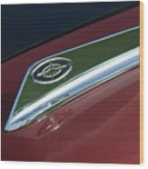1963 Ford Galaxie Hood Ornament Wood Print