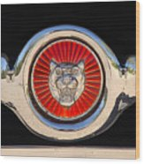 1963 Jaguar Xke Roadster Emblem Wood Print