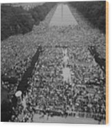 1963 March On Washington, At The Height Wood Print by Everett