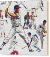 1963 Milwaukee Braves Yearbook Wood Print
