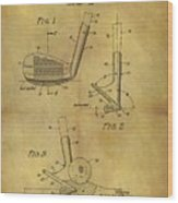 1963 Sand Wedge Patent Wood Print