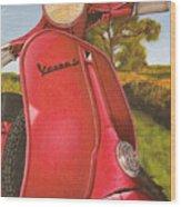 1963 Vespa 50 Wood Print