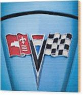 1964 Chevrolet Corvette Sting Ray Gm Styling Coupe Hood Emblem -0126c45 Wood Print