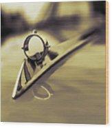 1964 Ford Galaxie 500 Xl Hood Ornament - Sepia Wood Print