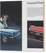 1964 Ford Mustang-08-09 Wood Print