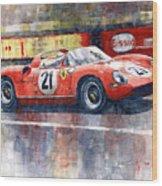 1964 Lemans 24 Ferrari 275p Ludovico Scarfiotti  Wood Print