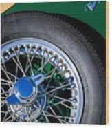1964 Morgan 44 Spare Tire Wood Print