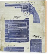 1964 Smith And Wesson Gun Patent Two Tone Wood Print