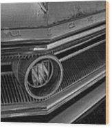 1965 Buick Hood Ornament B And W Wood Print