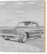 1965 Buick Riviera Gs Classic Car Art Print  Wood Print
