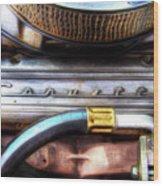 1965 Corvette Engine Digitally Painted Wood Print