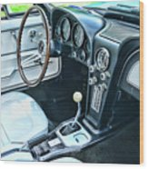 1965 Corvette Inside The Cockpit Wood Print