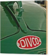 1965 Divco Milk Truck Hood Ornament Wood Print