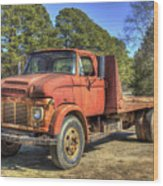 1965 Ford F600 Snub Nose Commercial Truck Wood Print