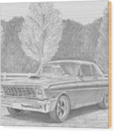 1965 Ford Falcon Classic Car Art Print Wood Print