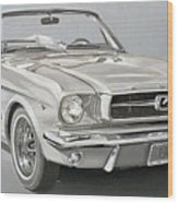 1965 Ford Mustang Wood Print by Daniel Storm
