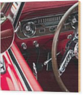 1965 Ford Mustang Fastback Dash Wood Print