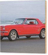 1965 Ford Mustang 'red Coupe' II Wood Print