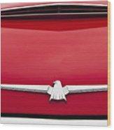 1965 Ford Thunderbird Emblem Wood Print