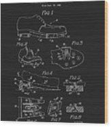 1965 Golf Shoes Patent Wood Print
