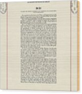 1965 Voting Rights Act. The Full Title Wood Print