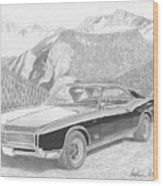 1966 Buick Riviera Classic Car Art Print Wood Print