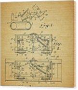 1966 Bulldozer Patent Wood Print