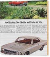 1966 Chevrolet Chevelle Turbo-jet V8's Wood Print