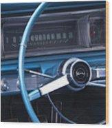 1966 Chevrolet Impala Dash Wood Print