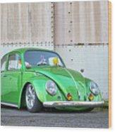 1966 Custom Green Beetle Wood Print