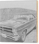 1966 Ford Fairlane Muscle Car Art Print Wood Print