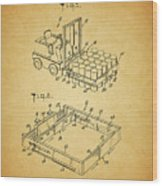 1966 Forklift Clamp Patent Wood Print