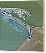 1966 Jaguar Hood Ornament Wood Print